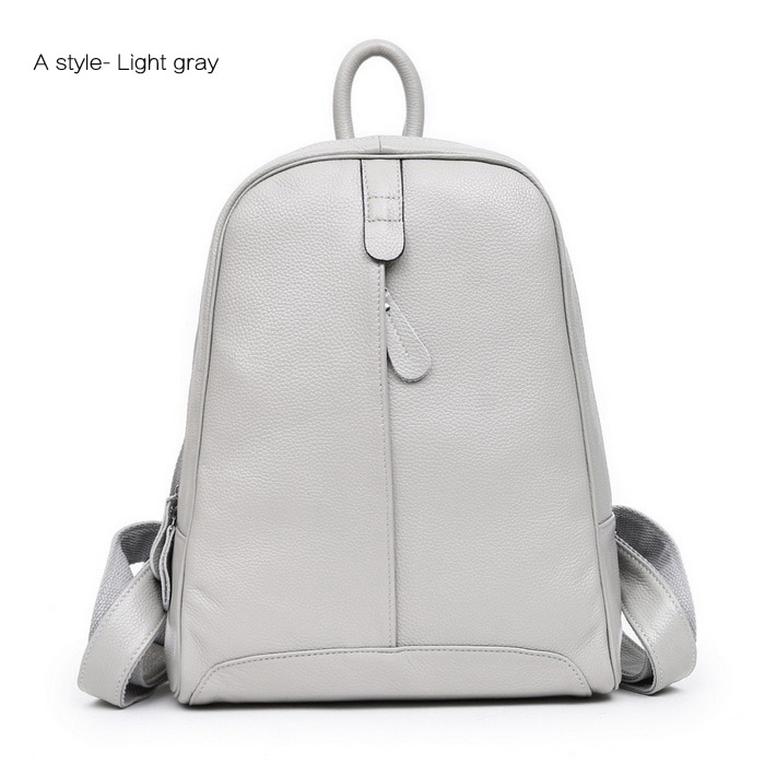 High Quality leather school backpack