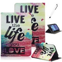 Universal PU Leather Case For 9 7 10 10 1 Inch Tablet PC Flip Stand Cover
