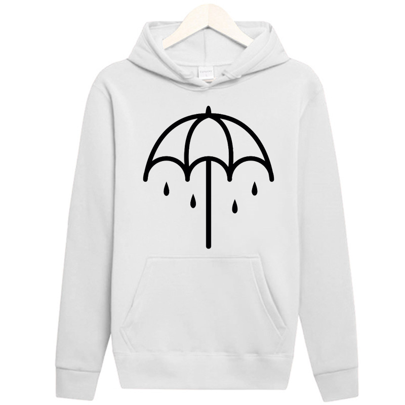 Causal Hip Hop Sudaderas Solid Color Cotton Long Sleeve Hoodies Men Clothes Bring Me The Horizon Print Funny Hoodies Men