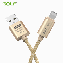 GOLF 3m Metal Braided USB Cable For iPhone X XS Max XR Fast Charging Data for 5 5S 6 6S 7 8 Plus iPad mini 2 3