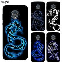 Silicone Hull Shell Back Case For Motorola MOTO G5 G5S G6 E4 E5 Plus G4 Play X4 Riverdale Cover Beautiful Dragon Sketch