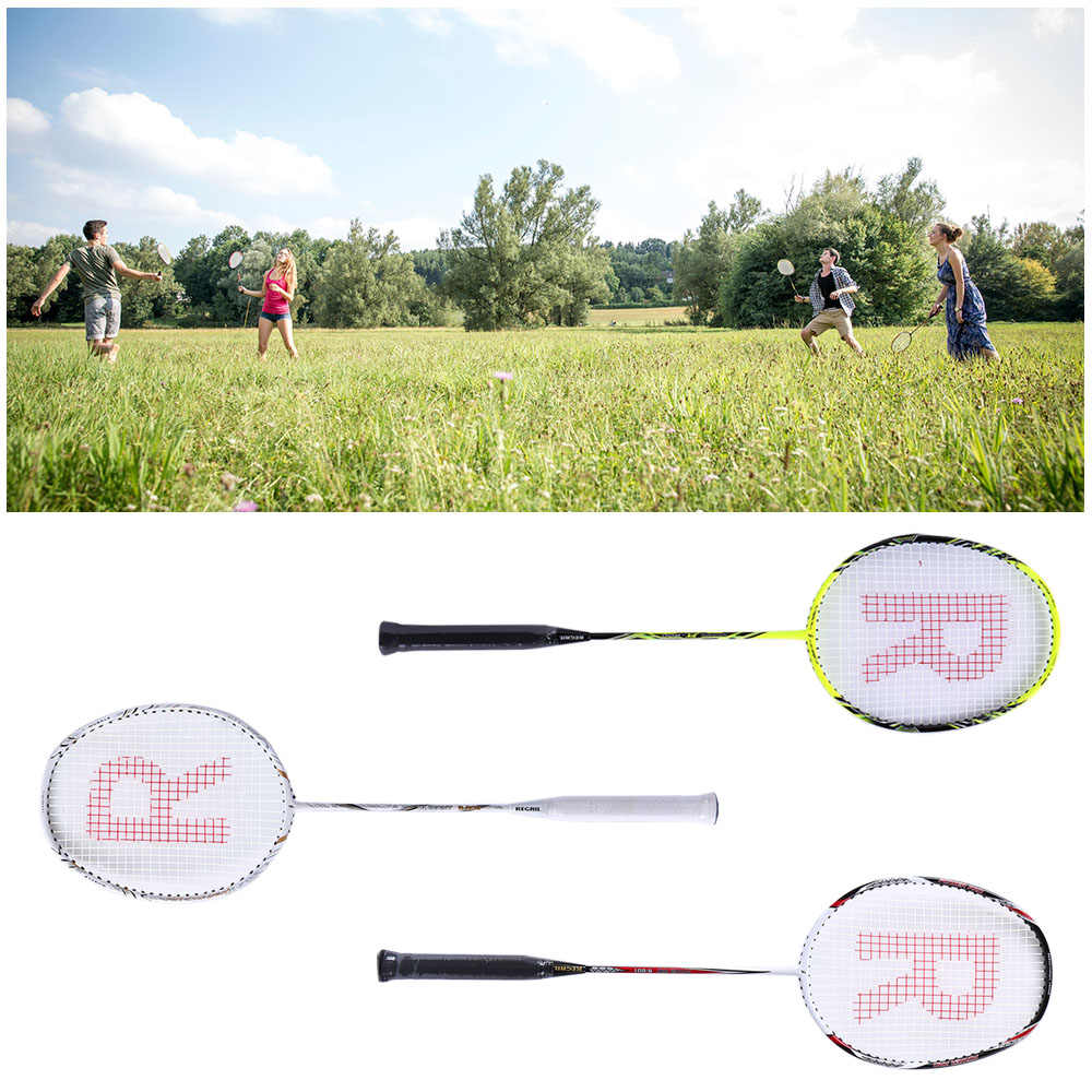 Badminton Racket Set Ultralight Carbon Fiber Baminton Racquet and Tube of 3 Shuttlecocks Birdies with Cover Bag
