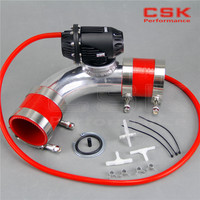 2.25''57mm 90 degree Flange Pipe +SQV Blow Off Valve BOV IV 4 black +red silicone Hose kit