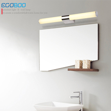 ECOBRT 16w 80cm long acrylic LED linear bathroom mirror lighting light decorate home indoor wall mirror light ecobrt 80cm long modern bathroom wall lights indoor 16w led mirror lamps over mirror 110v 220v
