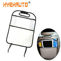 HYZHAUTO 1Pcs Multi-function Car Seat Back Protector Cover For Children Anti-Kick Pad Auto Seats Protect Cover Storage Bag