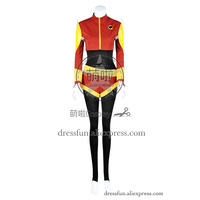 RWBY Cosplay Velvet Scarlatina Team CRDL Costume Red Jumpsuit Uniform Outfits Fashion Party Halloween Dress Fast Shipping