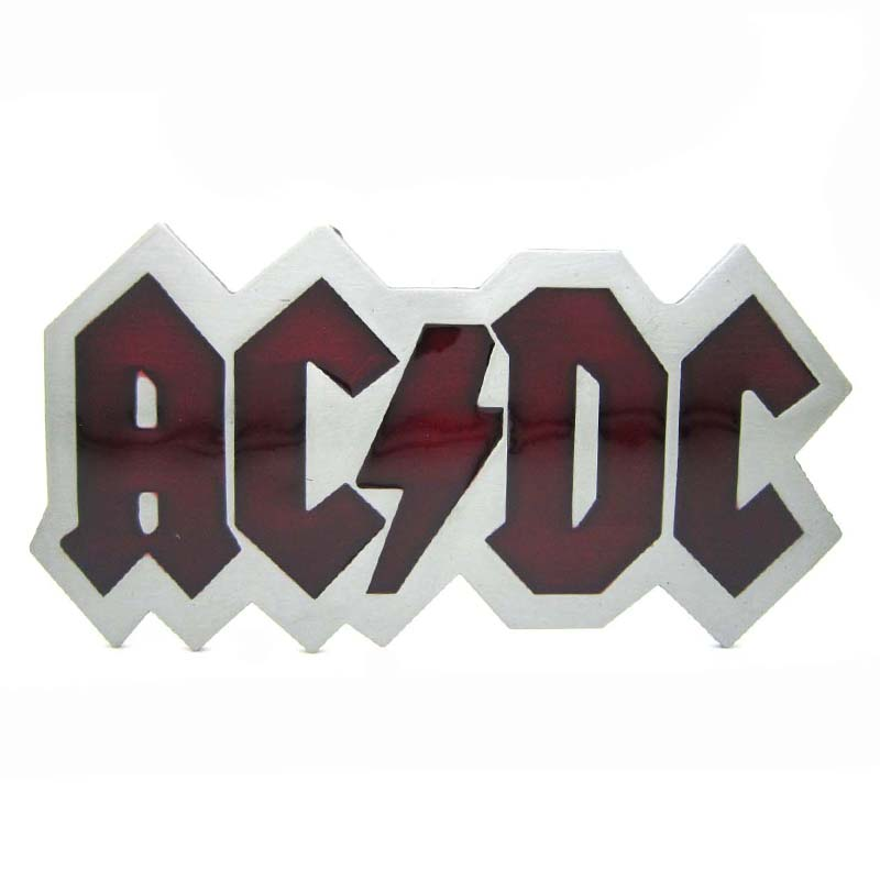 Clear Red ACDC Embossed Rock Heavy Metal Music Belt Buckle