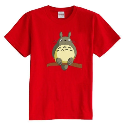 Children's T shirt summer short sleeve Hayao Miyazaki animation Totoro baby clothes 100% cotton boy girl kid t shirt