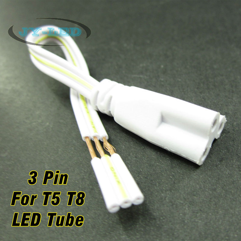 Fluorescent Lamp Connector Cable Female <font><b>Plug</b></font> Copper Cord 3 Pin 15cm For T5 <font><b>T8</b></font> LED Tube Connecting image