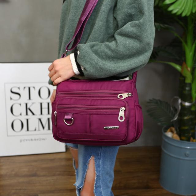 Women's Multicolor Nylon Waterproof Handbag