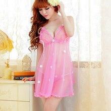 b72aa74ec1 Venta caliente del patrón de flor 1 Unidades de pijamas sexy Ropa interior  trajes eróticos ropa trajes adultos para las mujeres