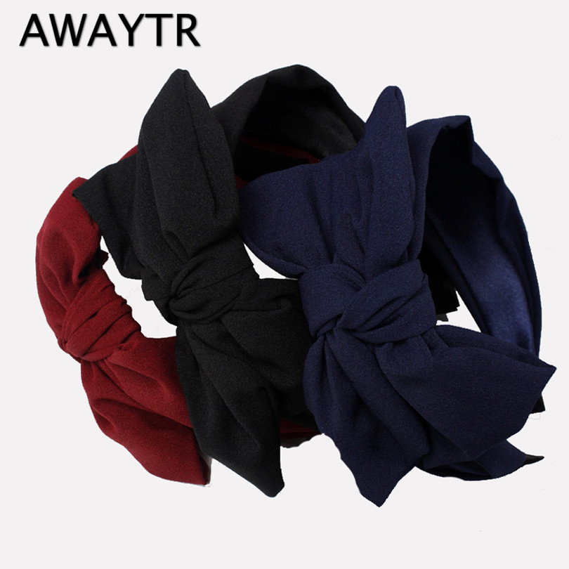 AWAYTR Floral Headband Wide Hair band  for Women Girls Bow Hair Hoop Korean Fashion Knot Hairband Autumn Winter Hair Accessories art deco industrial iron butterfly retro water pipe table lamp e27 desk lights reading lamps night light for living room bedroom