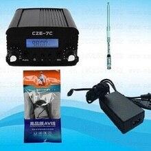 1 Вт/7 Вт стерео PLL fm-передатчик вещательная радиостанция CZE-7C 76-108 МГц+ TNC антенна+ блок питания+ аудио кабель