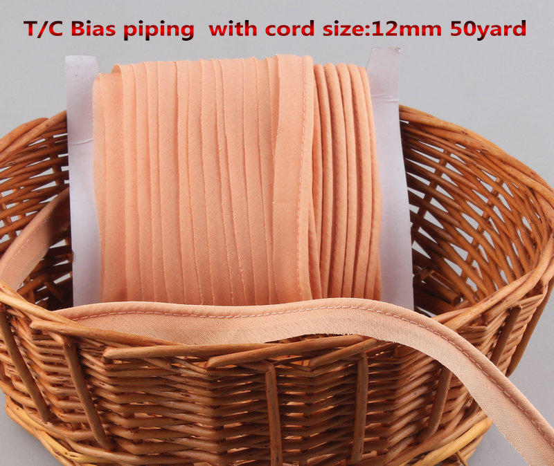 Free Shipping T/C Bias Piping, Bias Piping Tape With Cord