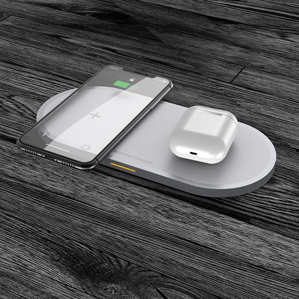 Image 4 - 2 in 1 Mobile Phone & Earphone Wireless Fast Charger Anti slip Wireless Charging Adapter for iPhone AirPods Air Pods-in Mobile Phone Chargers from Cellphones & Telecommunications
