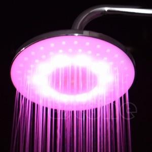 "Image 5 - Stainless Steel 8"" inch RGB LED Light Rain Shower Head Bathroom Dls HOmeful"