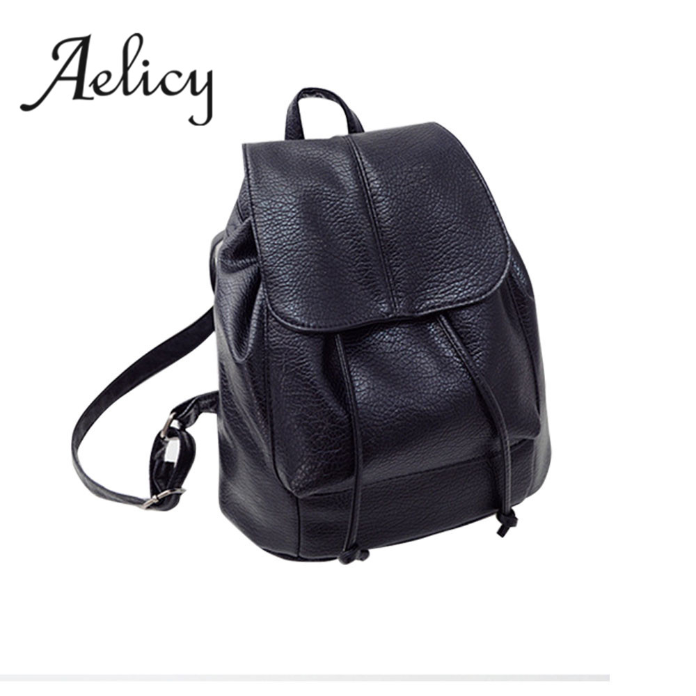 Aelicy Fashion Women Leather Backpack School Rucksack Bags Mochila Escolar School Bags For Girls Backpacks For Teenage Girls new brand women backpack high quality leather backpacks mochila school bags for girls satchel rucksack bags fashion gift 1 pcs