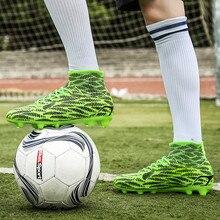 2018 nuevos de alta superior zapatos de fútbol de los hombres  antideslizante fútbol desgaste Boy juego 6718d4412184a