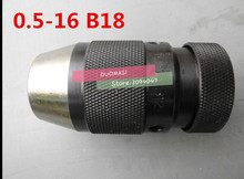 Taper B18(3-16), 0.5-16mm Medium-sized keyless drill chuck closefisted