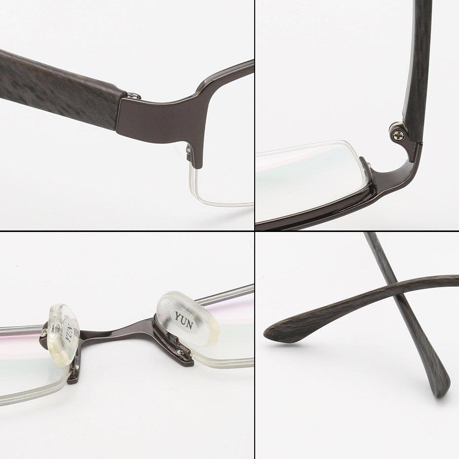 Blau Photochrome 1075 Brillen Metall brown Herren Klare Qualität Klassische Rezept Multifokale Progressive Gunmetal Anti Halfrim Linse xAqUp8wa