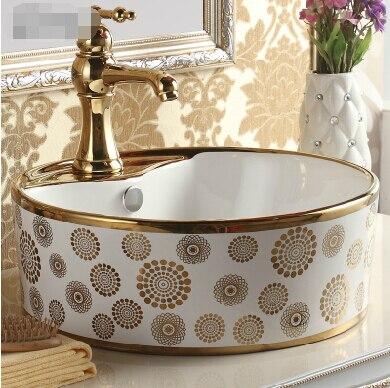 US $287.99 |Küche badezimmer keramik waschbecken aufsatzbecken  künstlerische becken rund bad becken waschbecken waschbecken in Küche  badezimmer ...