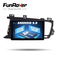 Funrover Android 8.0 2 din car dvd multimedia player for Kia K5 Optima 2011 2015 radio GPS Navigation stereo Autoradio wifi RDS