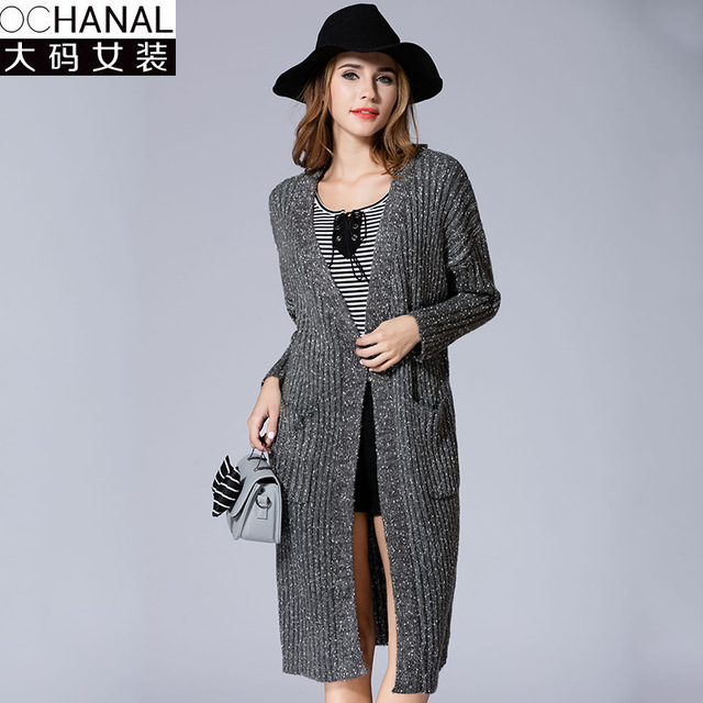 large size women autumn sales Fashion High Quality Cashmere Long ...
