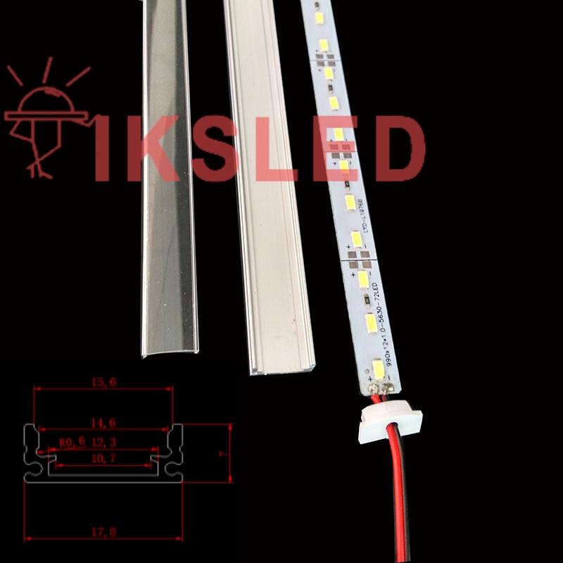 New Arrival 100cm*100pcs Super Bright LED Hard Rigid Bar light DC12V 36 SMD 8520 Chip Aluminum Led Strip light+U Shell+cover