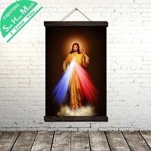 Звездный свет Иисуса Свиток Солнца Картина Холст Старинные Плакат и Печать Стены Искусства Картины Лучший!