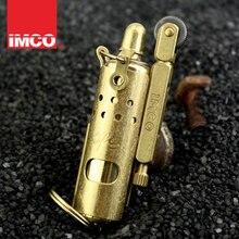 Подлинная IMCO Зажигалка из чистой меди, воздушная Зажигалка powel Kilo, индивидуальная Ретро ветрозащитная старая бензиновая зажигалка
