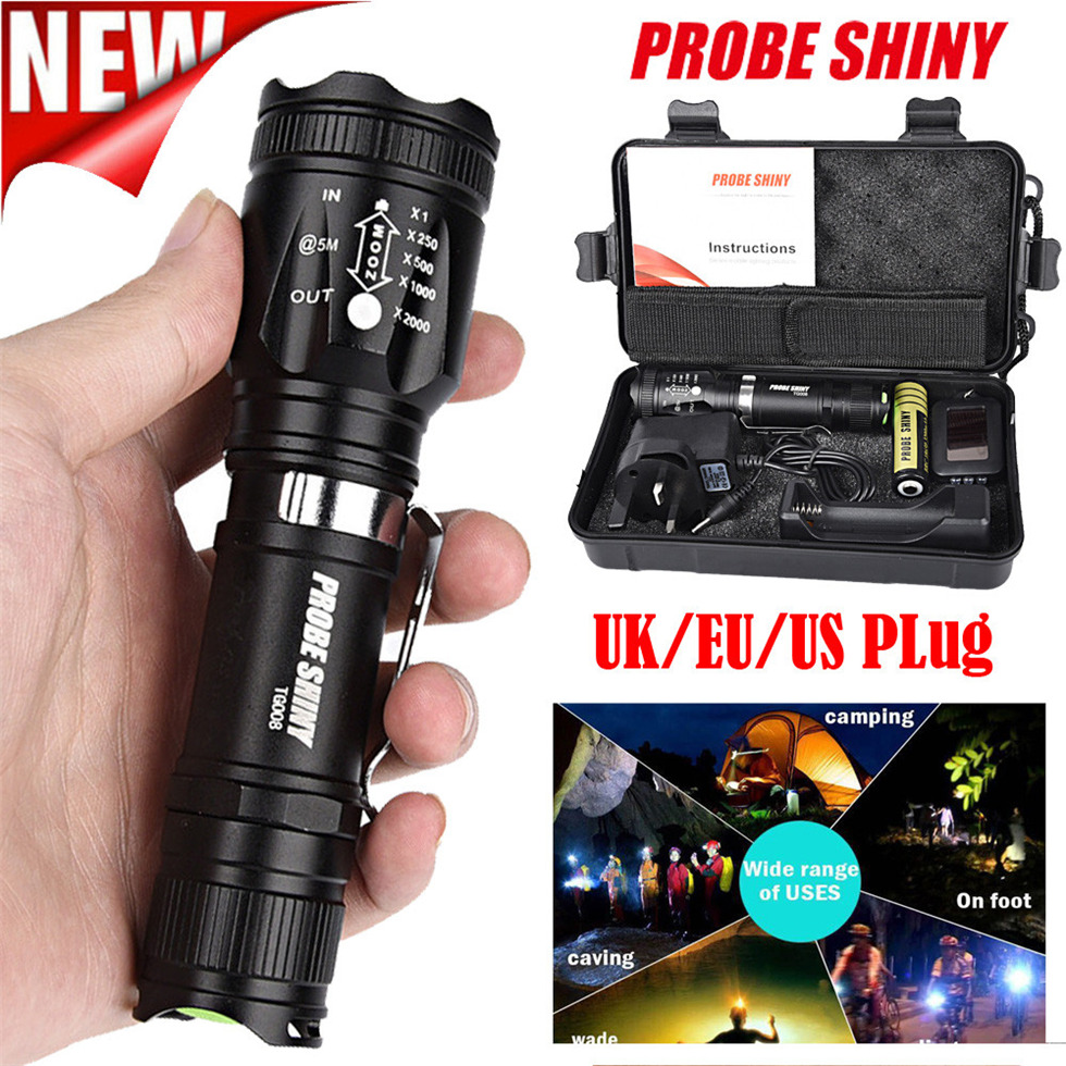 T6 COB LED Tactical USB Rechargeable Zoomable Flashlight Torch Lamp HOTSALE YK