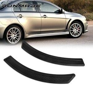Image 1 - Runmade 1 paire, garde boue avant et latéral, en Fiber de carbone, noir mat, 1 paire, pour Mitsubishi Lancer EVO, 2008 2015