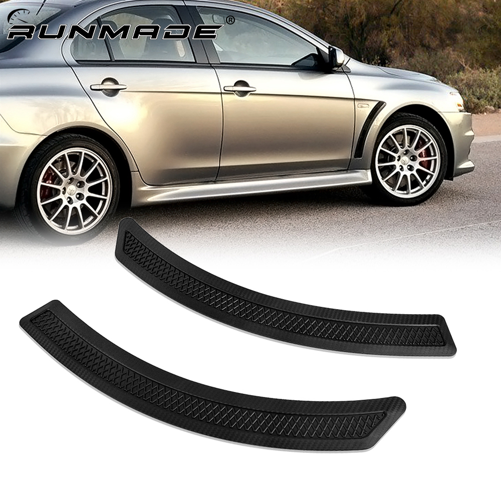 mildily 1Pcs Universal Rear Bumper Protector Silicone Protective Strip Trunk Boot Door Sill Guard Trim Cover Sticker Car Styling Light Wight Well-Suited
