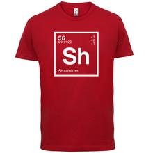 SHAUN Periodic Element - Mens T-Shirt Geeky / Chemistry 13 Colours Print T Shirt Short Sleeve Hot Tops Tshirt Homme