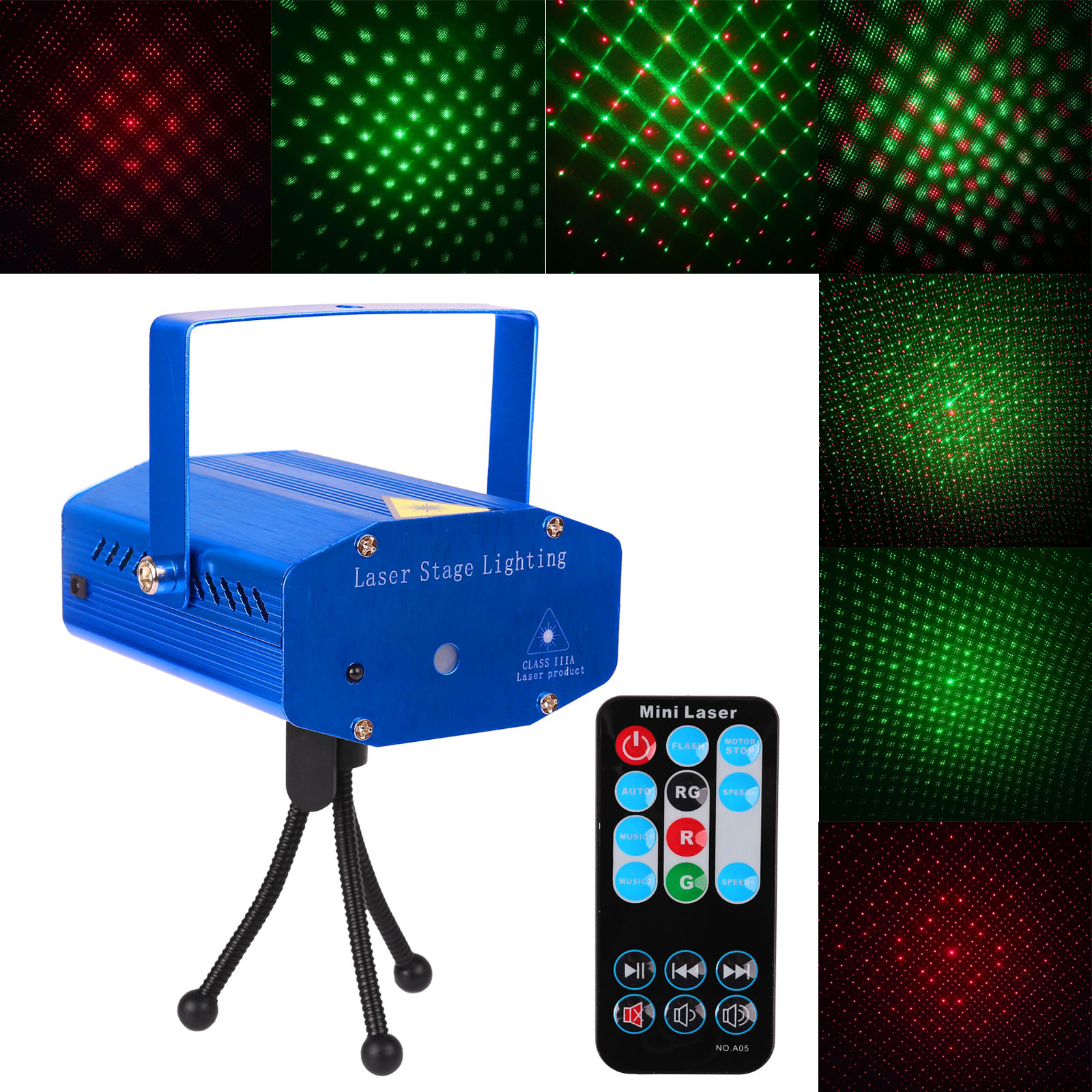 mini dj club disco projector stage light green red voice control function with remote ac 110. Black Bedroom Furniture Sets. Home Design Ideas