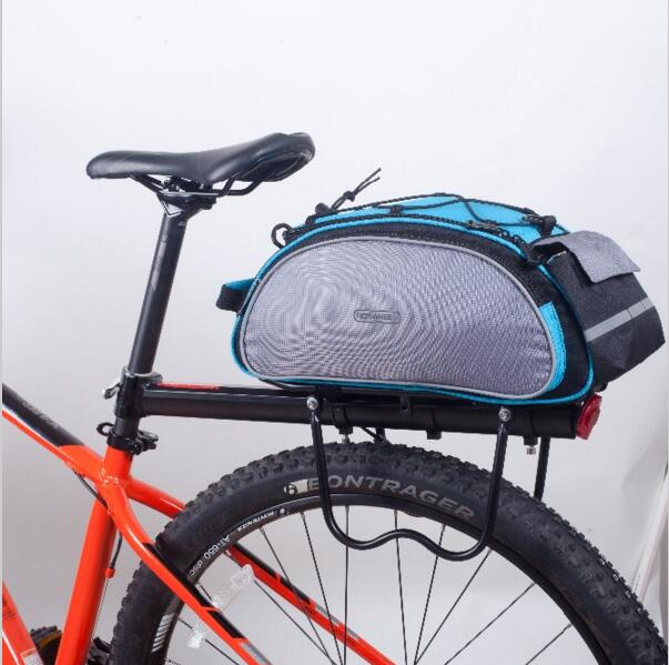 Top Sale Roswheel Bicycle Bags 13l Cycling Bike Pannier Rear Seat Bags Rack Trunk Shoulder Handbag Black/blue 2019 New Style Bicycle Accessories Bicycle Bags & Panniers