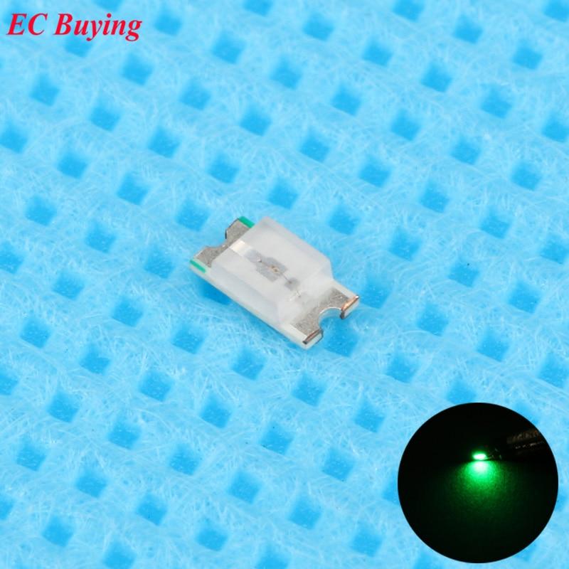 2012 Green Led Smd Chip Bulb Lamp Surface Mount Smt Bead Ultra Bright Light Emitting Diode Led Diy Practice Hight 100 Pcs 0805