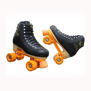 Image 4 - Professional Parenting Two Line Roller Skates Shoes Double Row Skating 4 PU Wheels High Grade PVC Leather Children Adult IB49