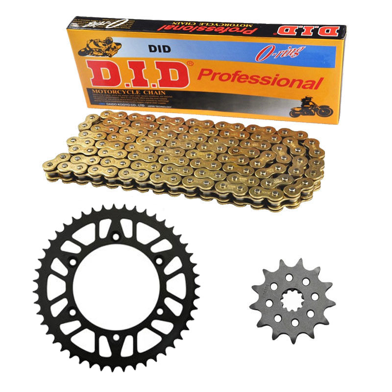 QUALITY MOTORCYCLE 520 CHAIN Front & Rear SPROCKET Kit Set FOR Kawasaki Road KLX400 B1(KLX400R),A1(KLX400SR) 2003 1 set motorcycle front