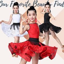 Новинка; платье для латинских танцев с короткими рукавами для девочек; детское платье для бальных танцев; детское платье для сальсы, румбы, ча, ча, самбы, танго