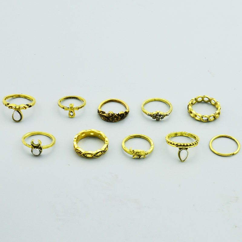 HTB1nNKdNXXXXXcZaXXXq6xXFXXXL Bohemian Fashion Vintage Rings Jewelry Set For Women - 10 Pieces