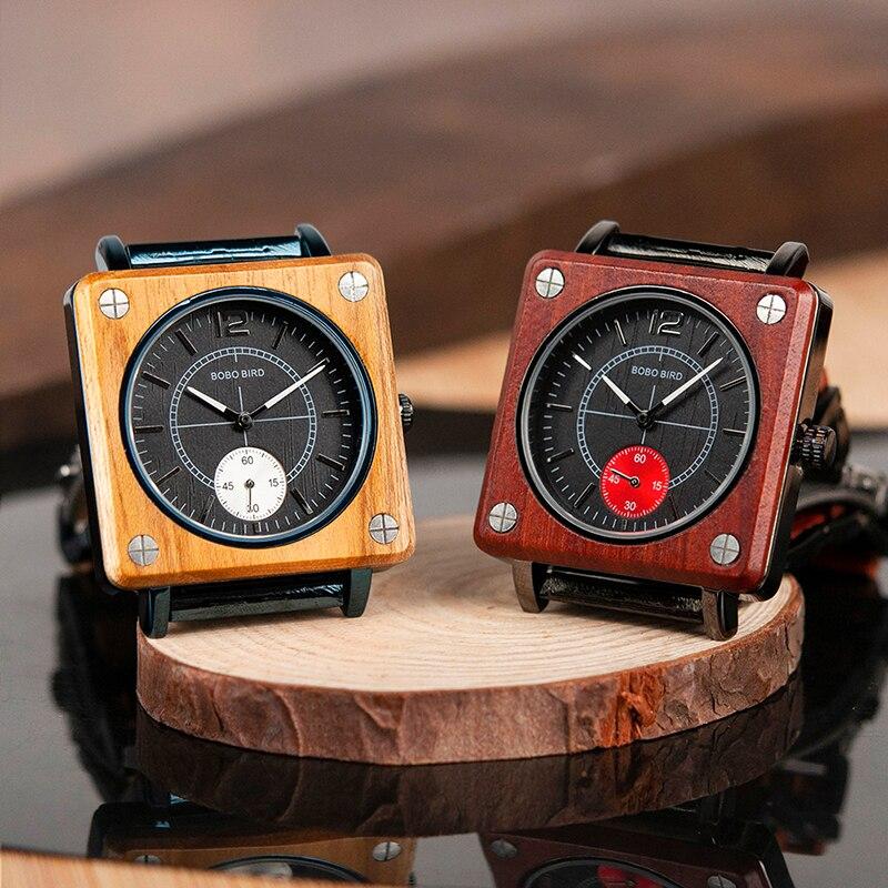 BOBO BIRD Luxury Men Wooden Watches W-R14