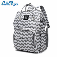 SeckinDogan Diaper Bag Fashion Striped Baby Diaper Backpack Waterproof Mummy Bags Maternity Travel Nursing Backpack