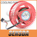 Original NTK FD9238H12S 75mm Graphics / Video Card Cooler Fan Replacement 37mm 12V 0.8A 4Wire for ATI HD5850 HD6850 HD6970