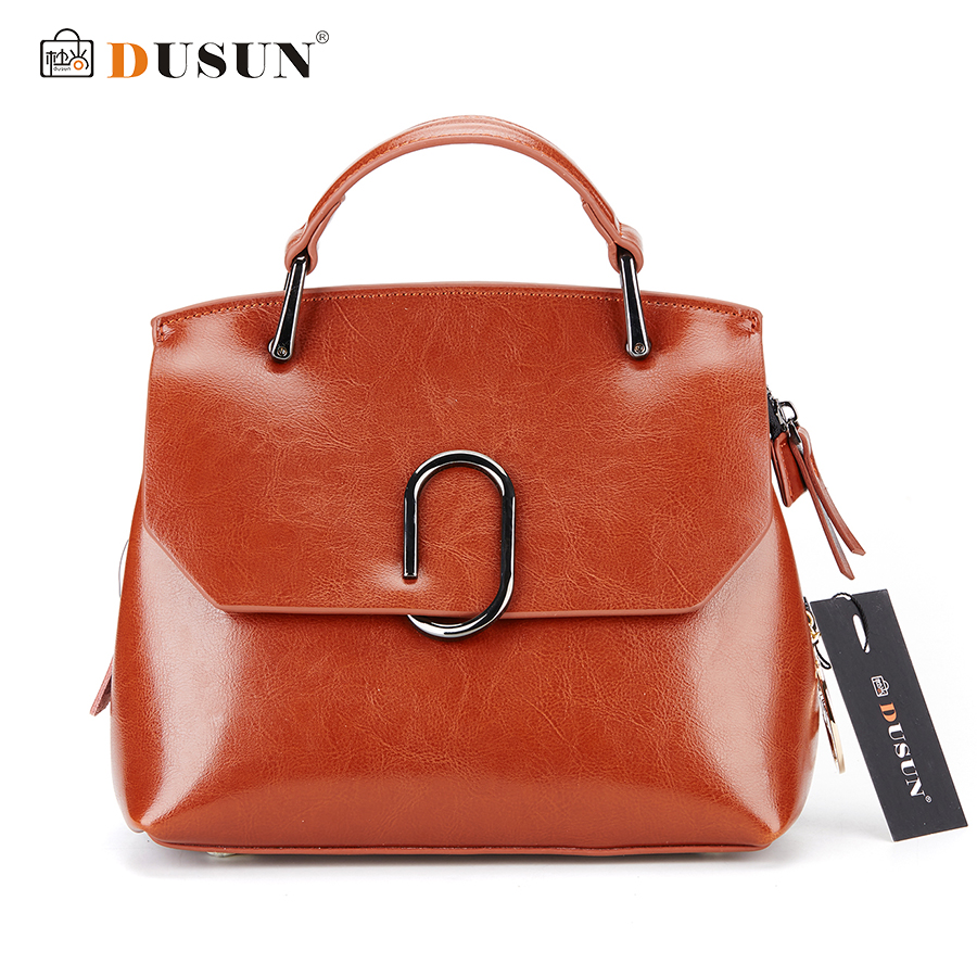 Dusun Vintage Women Messenger Bags Fashion Brand Handbags Casual Crossbody Bag Metal Design Handbags High Quality Women Bag