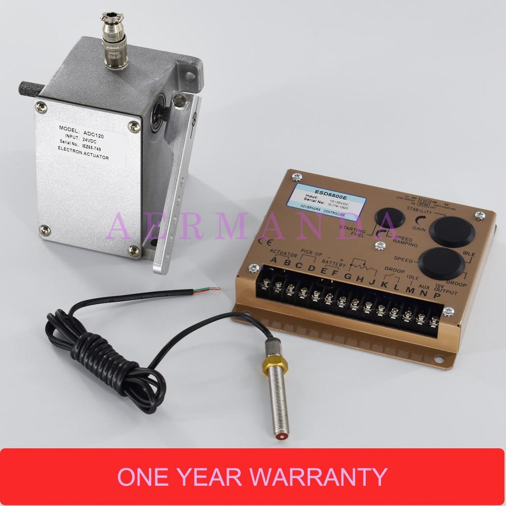 Generator parts ADC120 12V or 24V actuator+ESD5500E speed controller governor+MSP6729 Magnetic Speed Sensor esd5500e series speed governor with generator actuator adc225 12v or 24v adc225 12 and speed sensor 3034572