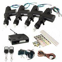 KROAK Universal 2/4 Door Remote Keyless Entry Central Locking Kit Car Remote Central Kit Door Lock Keyless Entry System