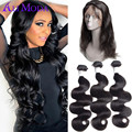 Ali Moda Hair 3 Bundles 360 Frontal With Bundles Brazilian Virgin Hair Body Wave With Closure Lace Frontal Closure With Bundles