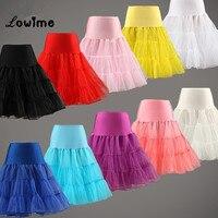 Free Shipping Short Petticoat In Stock Lady Girls Crinoline Cheap Bridal Petticoat For Wedding Dress Rockabilly