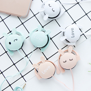 Image 3 - Newest Cat Ear Hook Headphones 3.5mm Music Earphones Headset With Microphone Earbud For Xiaomi Iphone Huawei MP3 Daughter Gift